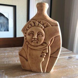 Vintage Terra Cotta Moon and Stars Vessel Vase